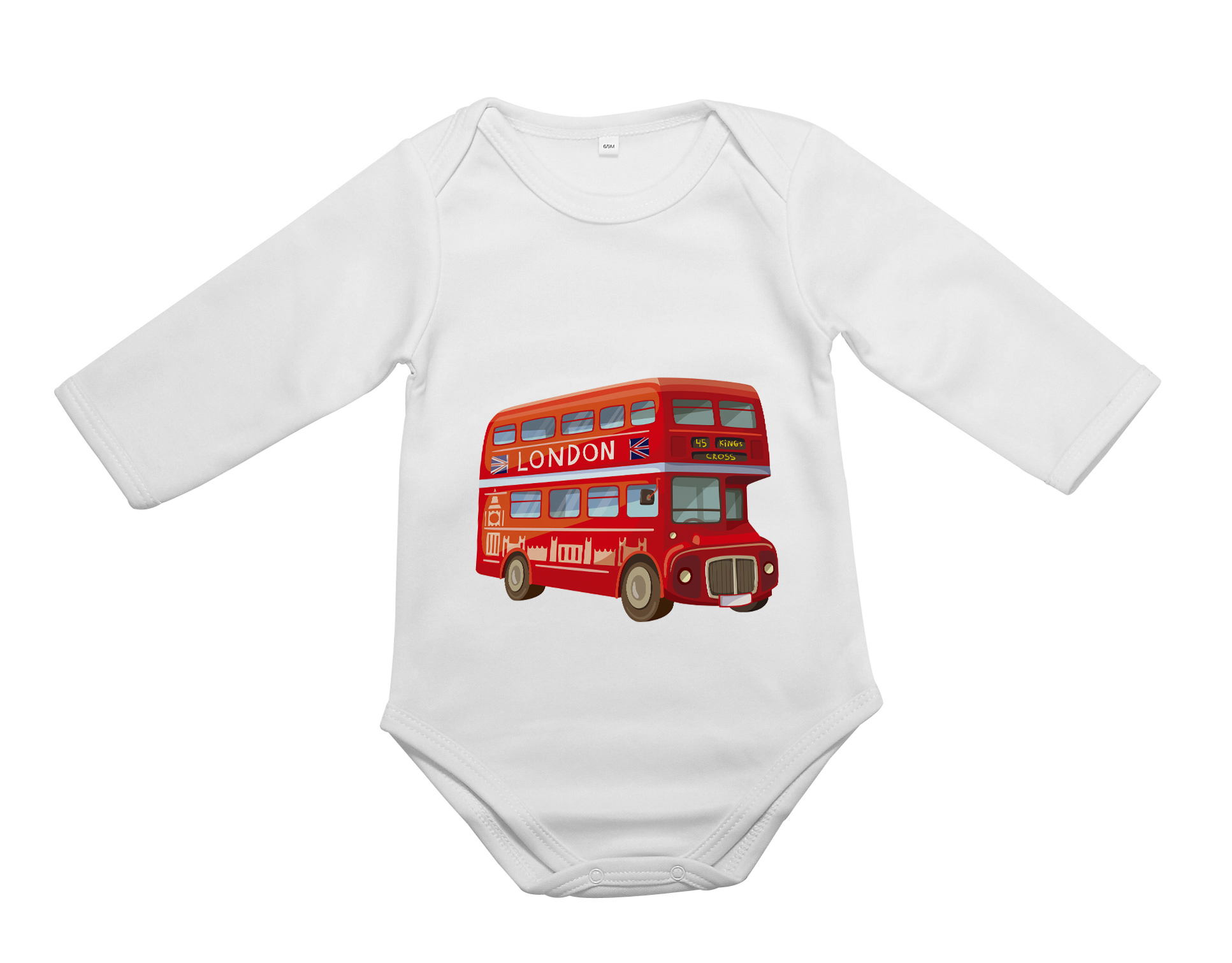 Personalised baby vest personalised gifts xpress personalised baby vest long sleeves negle
